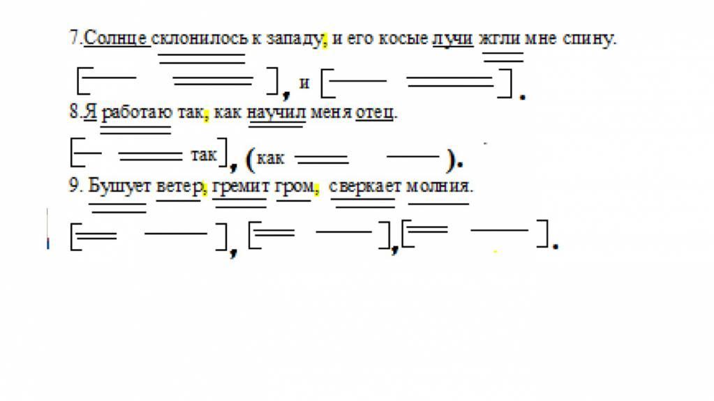 схемы предложений в русском языке